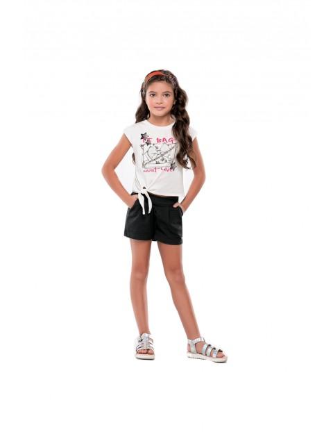 Komplet dziewczęcy czarne szorty i koszulka