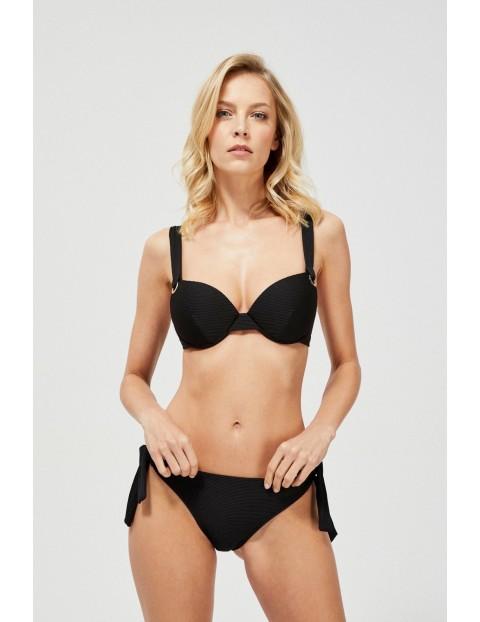 Czarny dół od bikini z wiązaniami