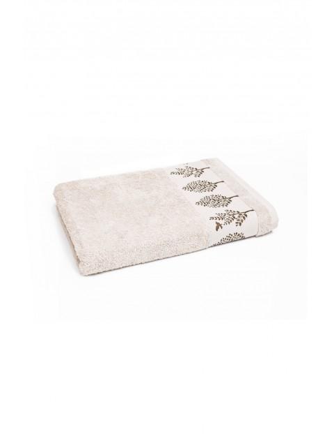 Bawełniany ręcznik w kolorze beżowym 50 x90 cm