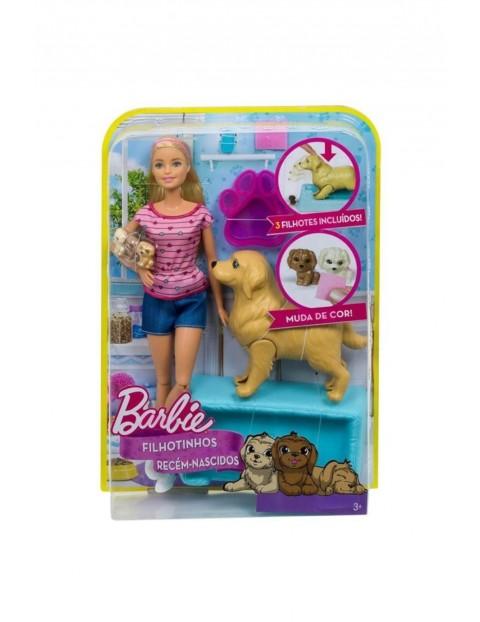 Lalka Barbie narodziny piesków zestaw