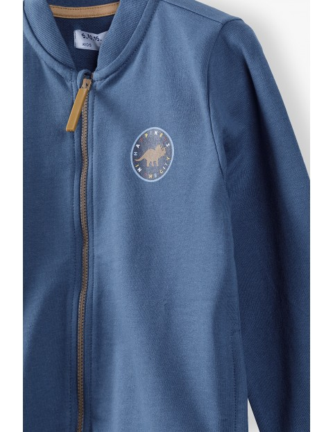 Granatowa bluza dresowa dla chłopca - rozpinana