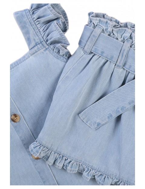 Komplet dziewczęcy - bluzka i szorty