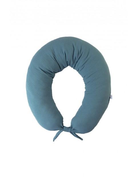 Poduszka pozycjonująca muślinowa- niebieska dł.260 cm