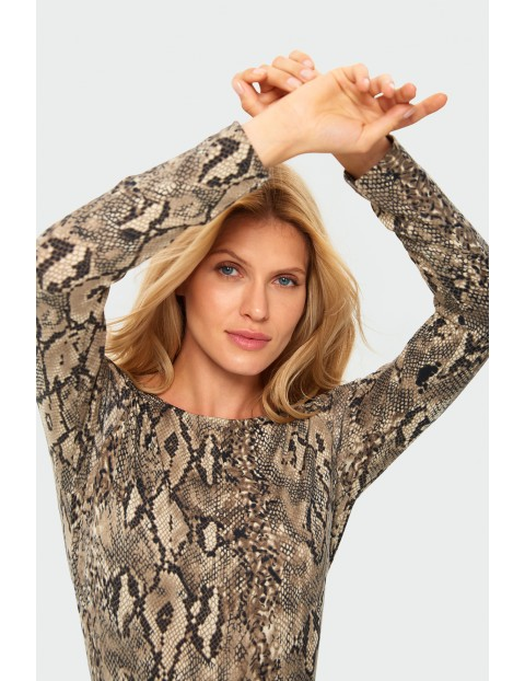 Sweter damski w zwierzęcy motyw