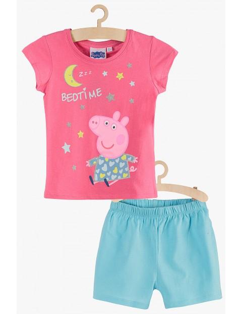 Pidżama dziewczęca Świnka Peppa różowo-niebieska