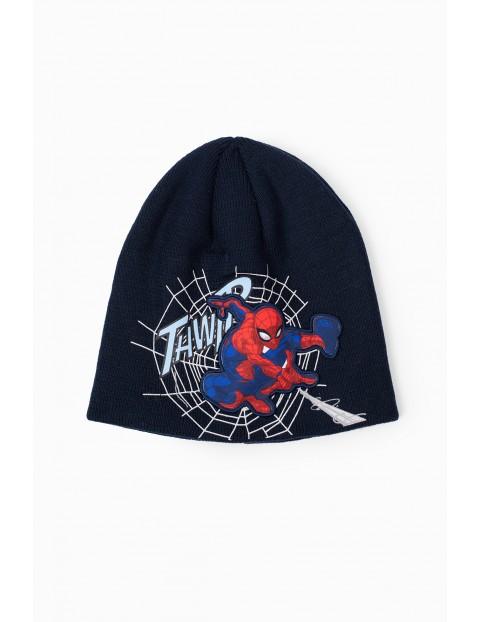 Czapka chłopięca granatowa Spiderman