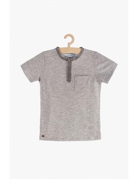 Koszulka chłopięca szara z kieszenią