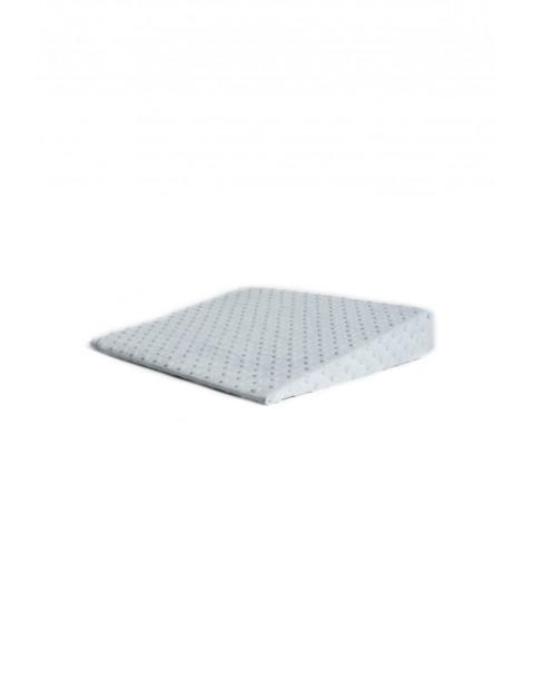 Poduszka klin minky szara 38 x 37 x 7 cm