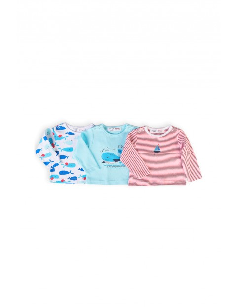 Bawełniane bluzki niemowlęce- 3-pak
