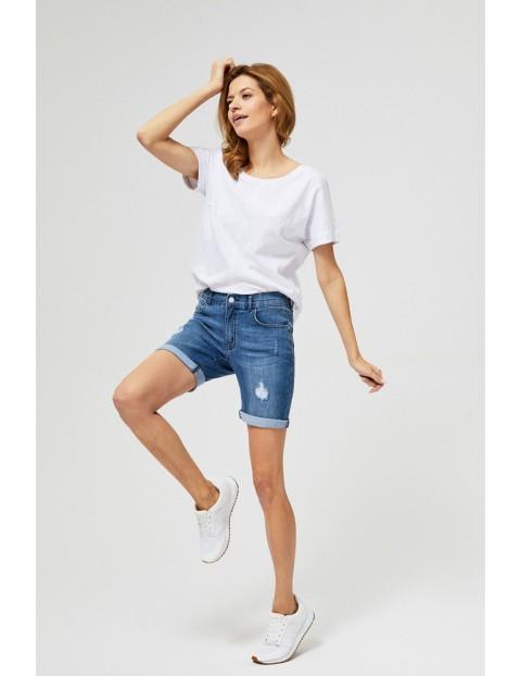 Szorty damskie jeansowe z przetarciami