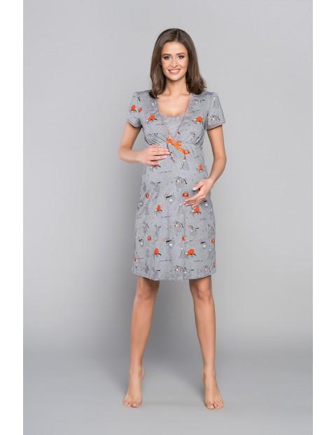 Koszula nocna ciążowa z krótkim rękawem LENIWCE