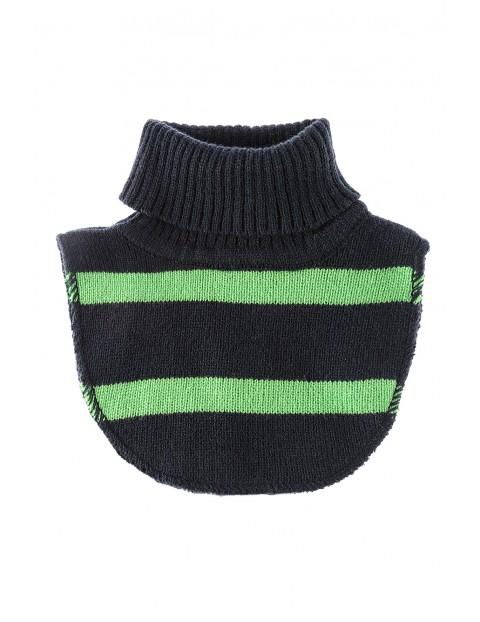 Półgolf chłopięcy- granatowy w zielone paski