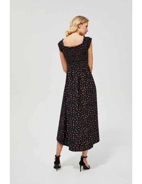 Sukienka damska dzianinowa w groszki