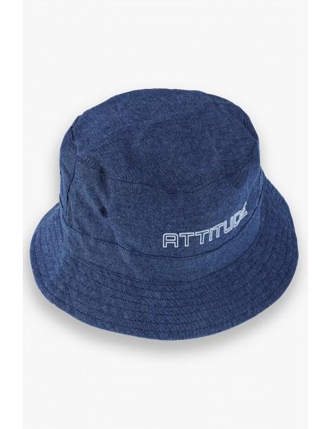 Bawełniany kapelusz chłopięcy z kolorze granatowym