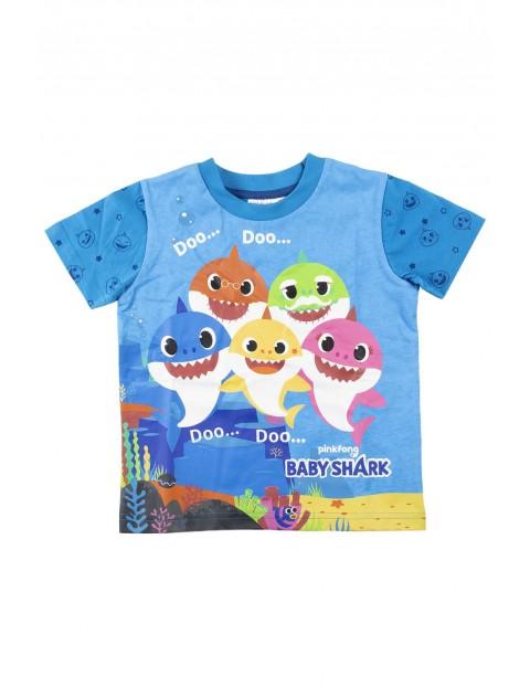 Piżama chłopięca z krótkim rękawem Baby Shark