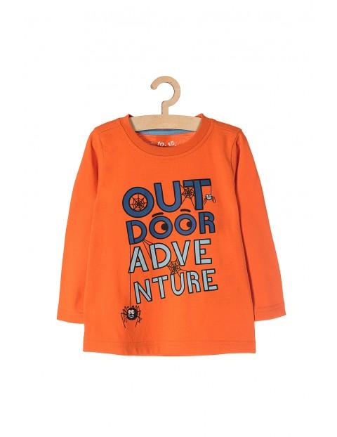 Bawełniana bluzka dla chłopca-pomarańczowa znadrukami