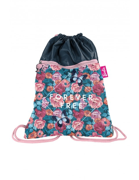 Worek na buty w kolorowe kwiaty- Barbie