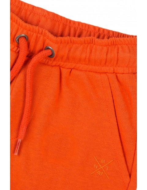 Szorty chłopięce w kolorze pomarańczowym