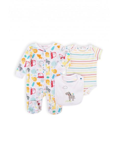 Komplet niemowlęcy 3-częściowy - wyprawka dla noworodka