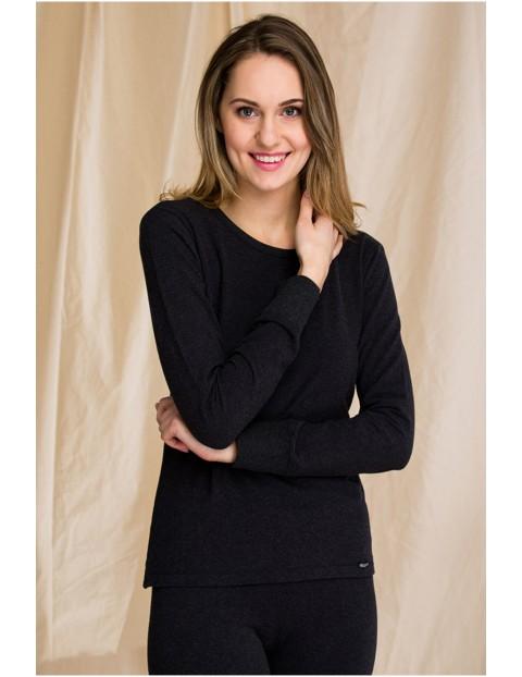 Ciepła bielizna Key - Hot touch – podkoszulek damski z długim rękawem - czarny