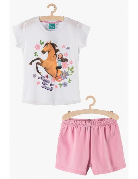 Pidżama dziewczęca Spirit biało-różowa