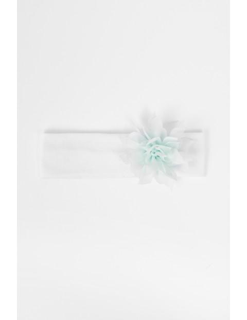 Dzianinowa opaska dla niemowlaka-biała