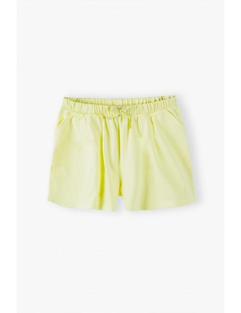 Szorty dziewczęce bawełniane- żółte
