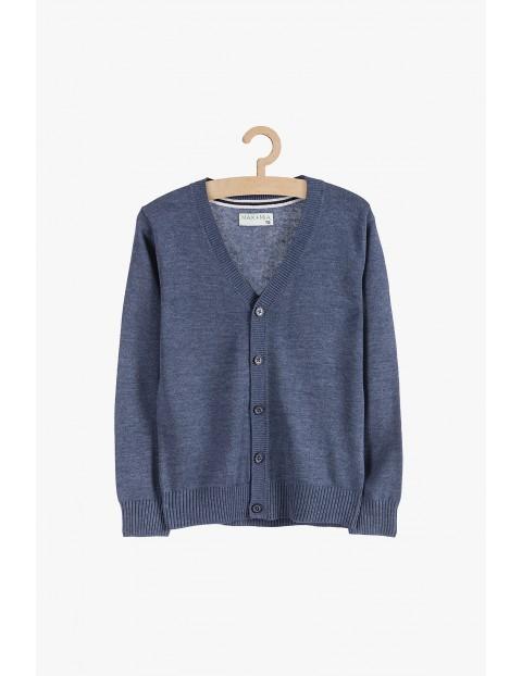 Sweter chłopięcy na guziki - niebieski