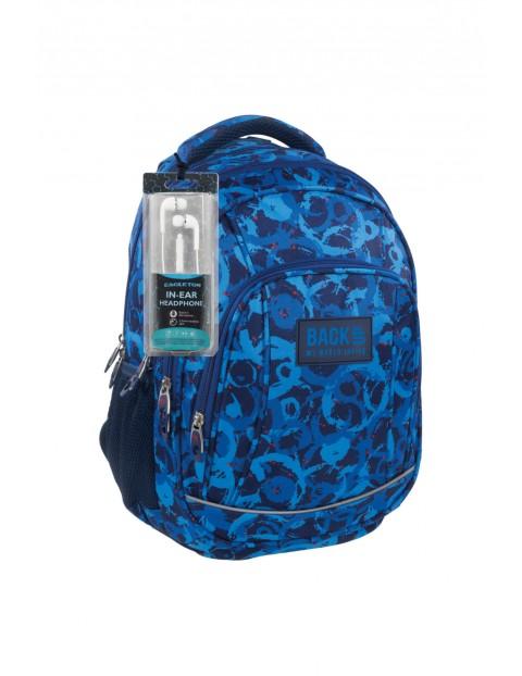 Plecak chłopięcy szkolny z odblaskiem- słuchawki gratis