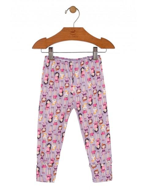 Spodnie niemowlęce w laleczki