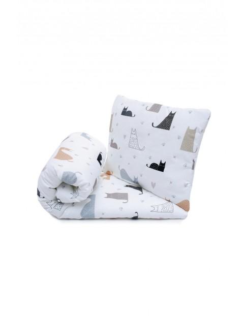 Komplet pościeli bawełnianej dla dzieci-Kocia rodzina 100 x135cm
