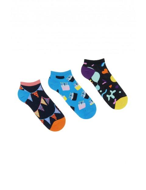 Bawełniane stopki męskie w kolorowe wzory 3pak