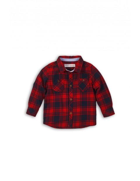 Koszula niemowlęca w kratę 5J35A3