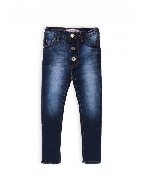Spodnie dziewczęce jeansowe granatowe