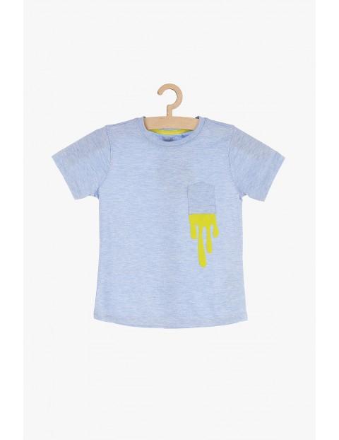 T-shirt chłopięcy niebieski