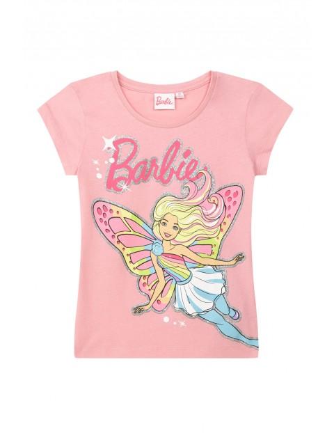 T-shirt dziewczęcy Barbie-różowy