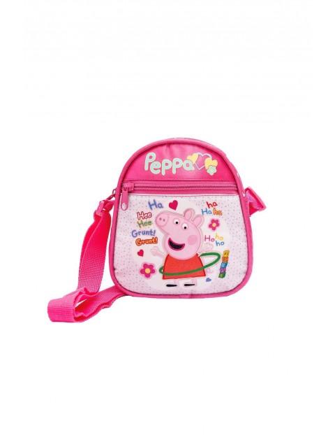Torebka dziewczęca owalna - różowa - Świnka Peppa