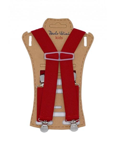 Szelki dziewczęce do spodni 60 cm - czerwone