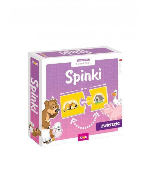 Układanki edukacyjne Spinki - Zwierzęta 4+