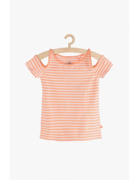 Bluzka dziewczęca w pomarańczowe paski