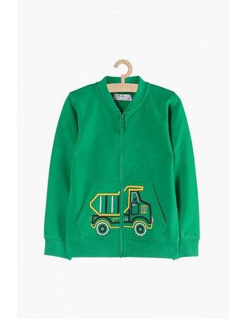 Bluza chłopięca dresowa z kieszeniami- zielona