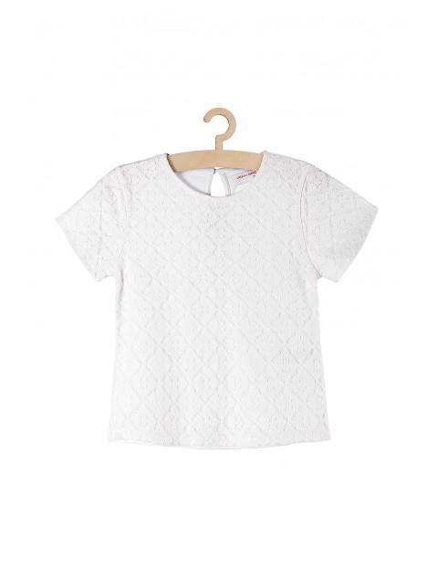 Bluzka dziewczęca z białej koronki