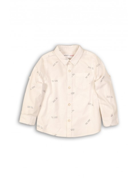 Koszula niemowlęca biała we wzorki