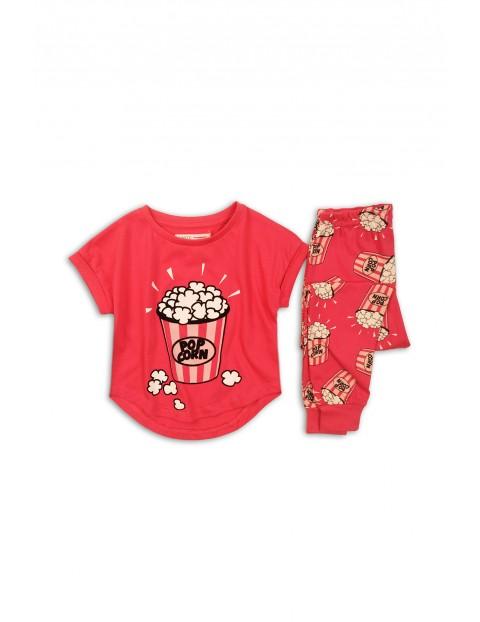 Pidżama dziewczęca czerwona - Popcorn