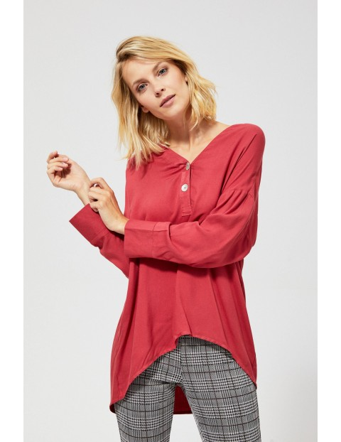 Luźna bluzka damska z długim rękawem