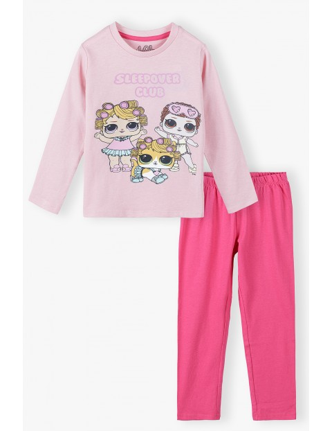 Piżama dziewczęca bawełniana różowa LOL