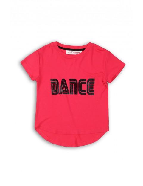 Koszulka dziewczęca różowa z napisem Dance