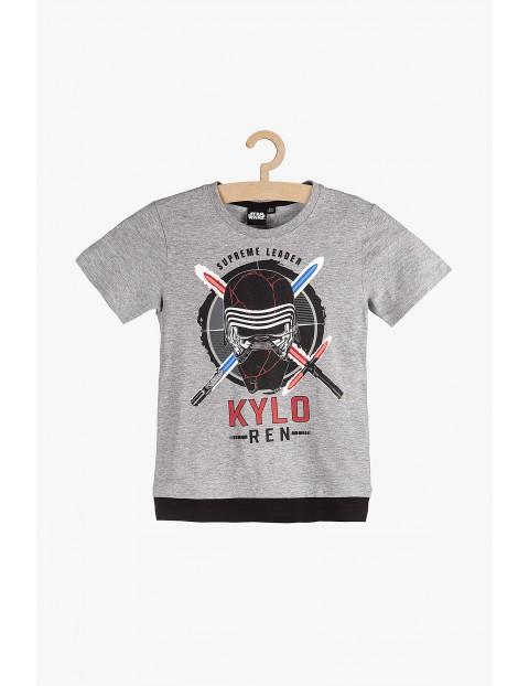 T-Shirt chłopięcy szary Star Wars- Kylo