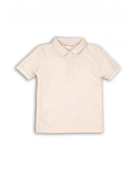 Koszulka chłopięca z kołnierzykiem