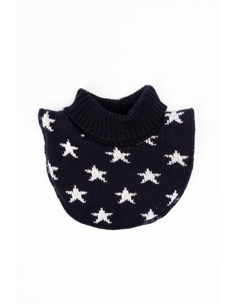 Półgolf dla dziecka- granatowy w białe gwiazdki